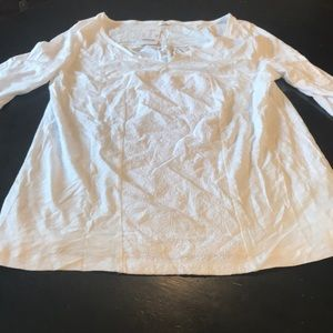 NWT Cute Small White J Crew Cotton Top 🌺